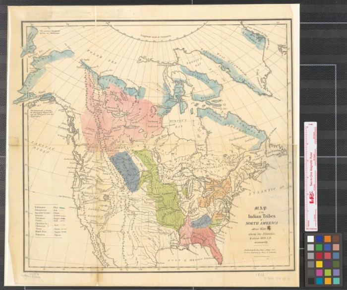 Map of the Indian tribes of North America about 1600 AD along