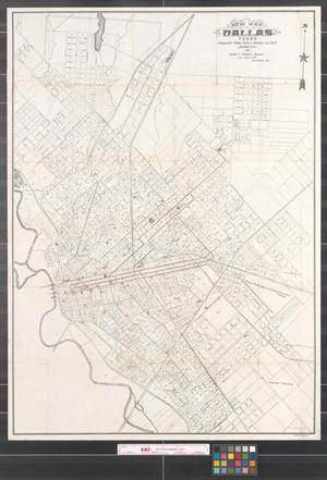 Primary view of object titled 'New map of Dallas Texas compiled from latest surveys and best authorities, 1901.'.