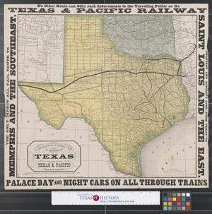 Primary view of object titled 'A geographically correct map of the State of Texas.'.