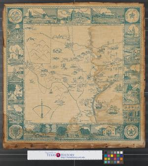 Primary view of object titled '[Map of Texas]'.