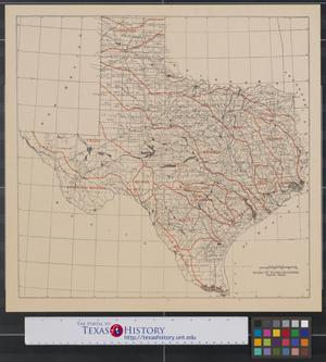 Primary view of object titled '[Map of Texas water districts and watersheds]'.