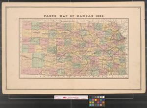 Primary view of object titled 'Page's map of Kansas, 1886.'.