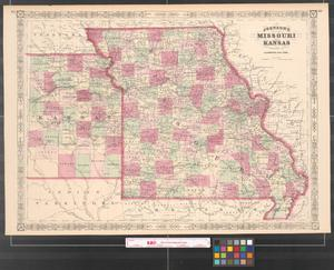 Primary view of object titled 'Johnson's Missouri and Kansas.'.