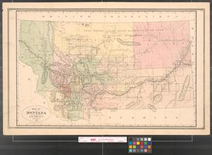 Primary view of object titled 'Map of Montana.'.