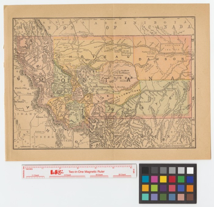 Map of Montana] - The Portal to Texas History