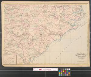 Primary view of object titled 'Asher & Adams' North Carolina and South Carolina.'.