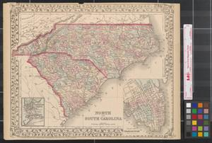 Primary view of object titled 'North and South Carolina.'.