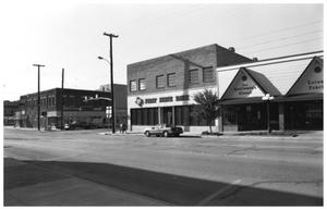 Primary view of object titled '[A Corner of Oak Avenue and East Hubbard Street]'.