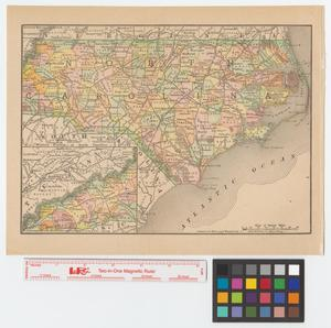 Primary view of object titled '[Map of North Carolina]'.