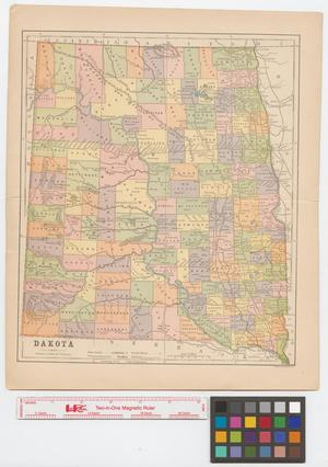 Primary view of object titled 'Map of North & Dakota Territory.'.