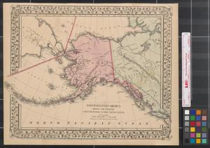 Primary view of object titled 'North western America : showing the territory ceded by Russia to the United States ; reduced from the map published by the U.S.C.S. Dept.'.