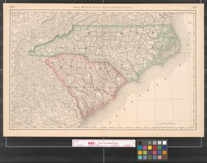 Primary view of object titled 'Rand, McNally & Co.'s North and South Carolina.'.