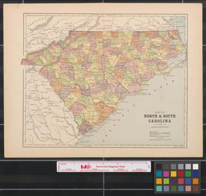 Primary view of object titled 'Map of North & South Carolina.'.