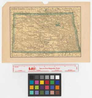 Primary view of object titled 'Hammond's enlarged map of North Dakota.'.