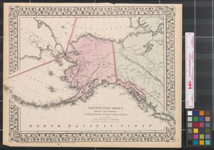 Primary view of object titled 'North western America : showing the territory ceded by Russia to the United States.'.