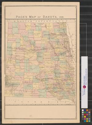 Primary view of object titled 'Page's map of Dakota, 1886.'.