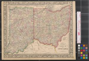 Primary view of object titled 'County map of Ohio and Indiana.'.