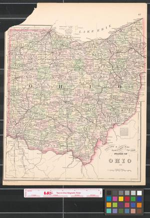 Primary view of object titled 'County & township map of the states of Ohio and.'.