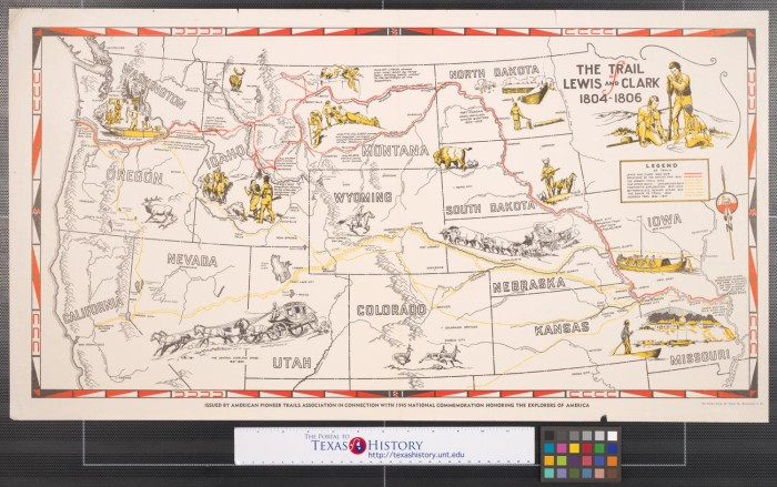 Clark Colorado Map.The Trail Of Lewis And Clark 1804 1806 The Portal To Texas History