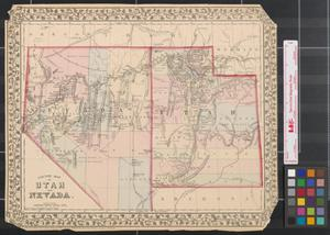 Primary view of object titled 'County Map of Utah and Nevada.'.
