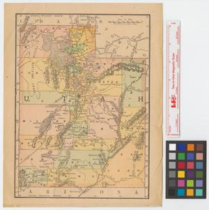 Primary view of object titled '[Map of Utah]'.