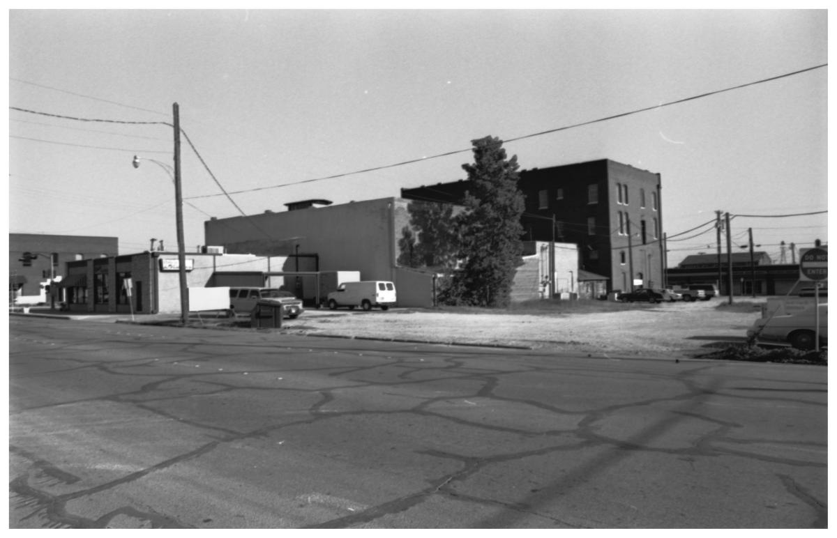[A Back View of Businesses on the West Side of 100 Block and S. Oak]                                                                                                      [Sequence #]: 1 of 1