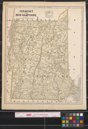 Primary view of object titled 'Vermont and New Hampshire.'.