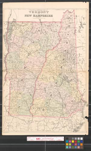 County and township map of Vermont and New Hampshire. - The Portal ...