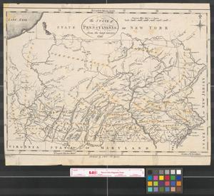Primary view of object titled 'The state of Pennsylvania : from the latest surveys, 1796.'.
