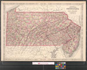 Primary view of object titled 'Johnson's Pennsylvania and New Jersey.'.