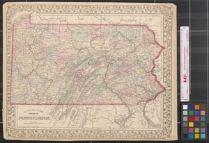 Primary view of object titled 'County map of the state of Pennsylvania'.