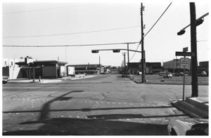 Primary view of object titled '[The Mineral Wells Savings and Loan--and Lynch Plaza Parking Lot]'.