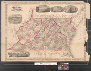 Primary view of object titled 'Johnson's Virginia, Delaware, Maryland & West Virginia.'.