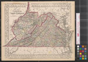 Primary view of object titled 'County map of Virginia and West Virginia.'.