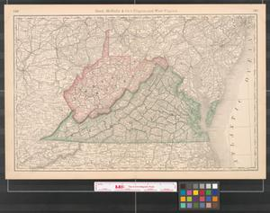 Primary view of Rand, McNally & Co.'s Virginia and West Virginia.