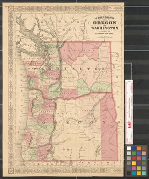 Primary view of object titled 'Johnson's Oregon and Washington.'.