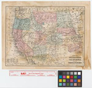 Primary view of object titled 'Map of Oregon, Kansas, California and the territories.'.