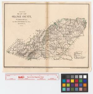 Primary view of object titled 'Preliminary map of Orange County, Virginia.'.