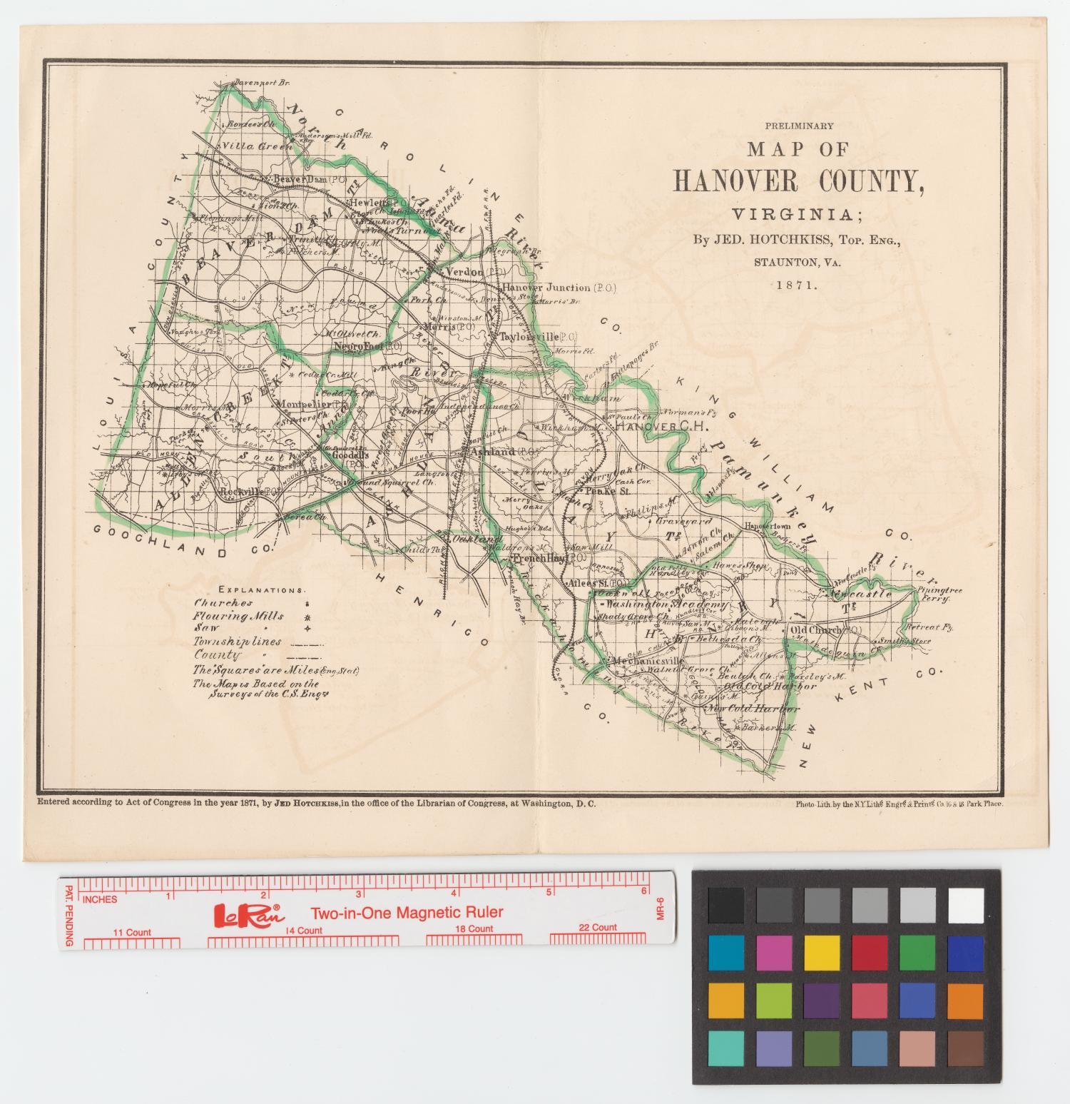Preliminary Map Of Hanover County Virginia The Portal To Texas