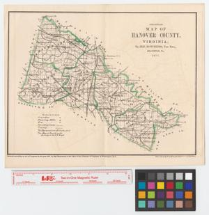 Primary view of object titled 'Preliminary map of Hanover County, Virginia.'.