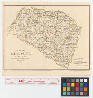 Primary view of object titled 'Preliminary map of Louisa County, Virginia.'.