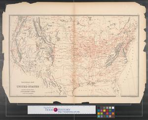 Primary view of object titled 'Railroad map of the United States : together with the various steamship lines along the seaboard.'.