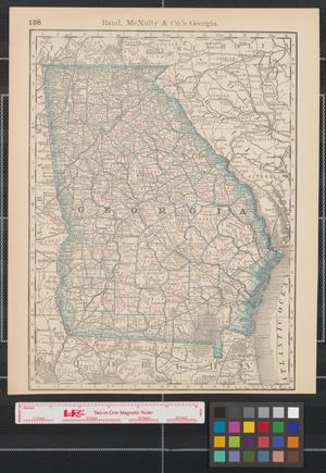 Primary view of object titled 'Rand McNally & Co.'s Georgia.'.