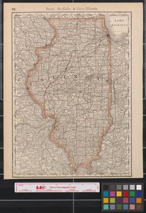 Primary view of object titled 'Rand, McNally & Co.'s Illinois.'.