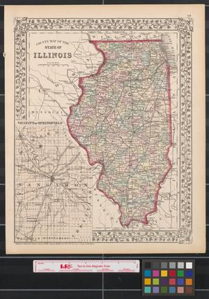 Primary view of object titled 'County map of the state of Illinois.'.