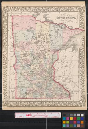 Primary view of object titled 'County map of Minnesota.'.