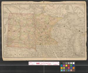 Primary view of object titled 'Map of Minnesota and Dakota : field occupied by D.S.B. Johnston & Son, negotiators of mortgage loans, St. Paul, Minn.'.