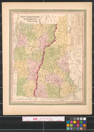 Primary view of object titled 'New Hampshire & Vermont.'.