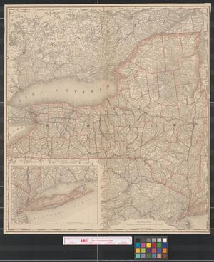 Primary view of object titled '[Map of New York state]'.