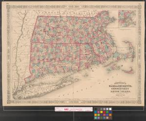 Primary view of object titled 'Johnson's Massachusetts, Connecticut and Rhode Island.'.